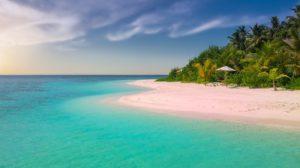 夏の青い海