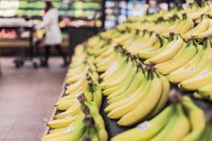 お店のバナナ売り場