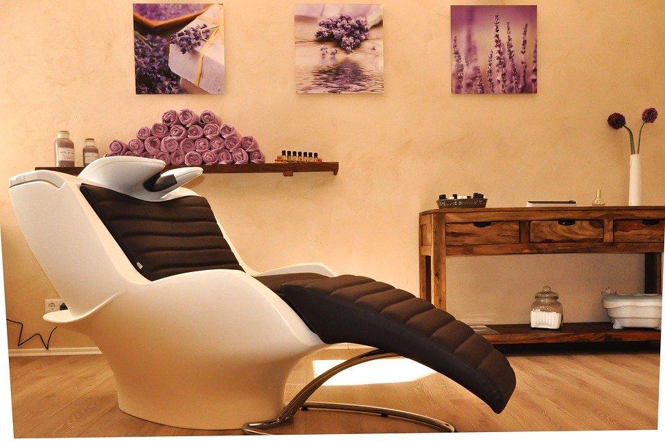 美容院の椅子