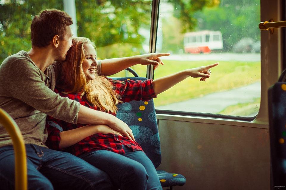 バスで外出